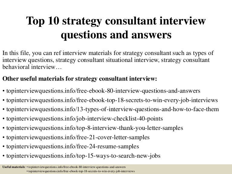 strategy consulting cover letter
