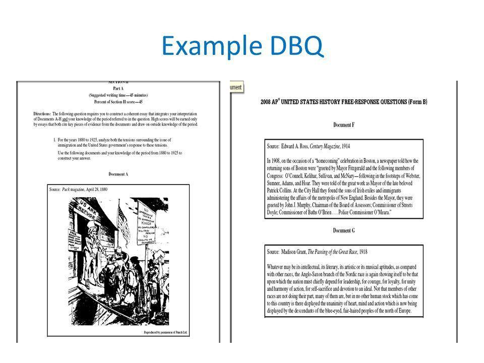 Essay Format. DBQ/FRQ Importance DBQ = 25% of your AP test grade ...