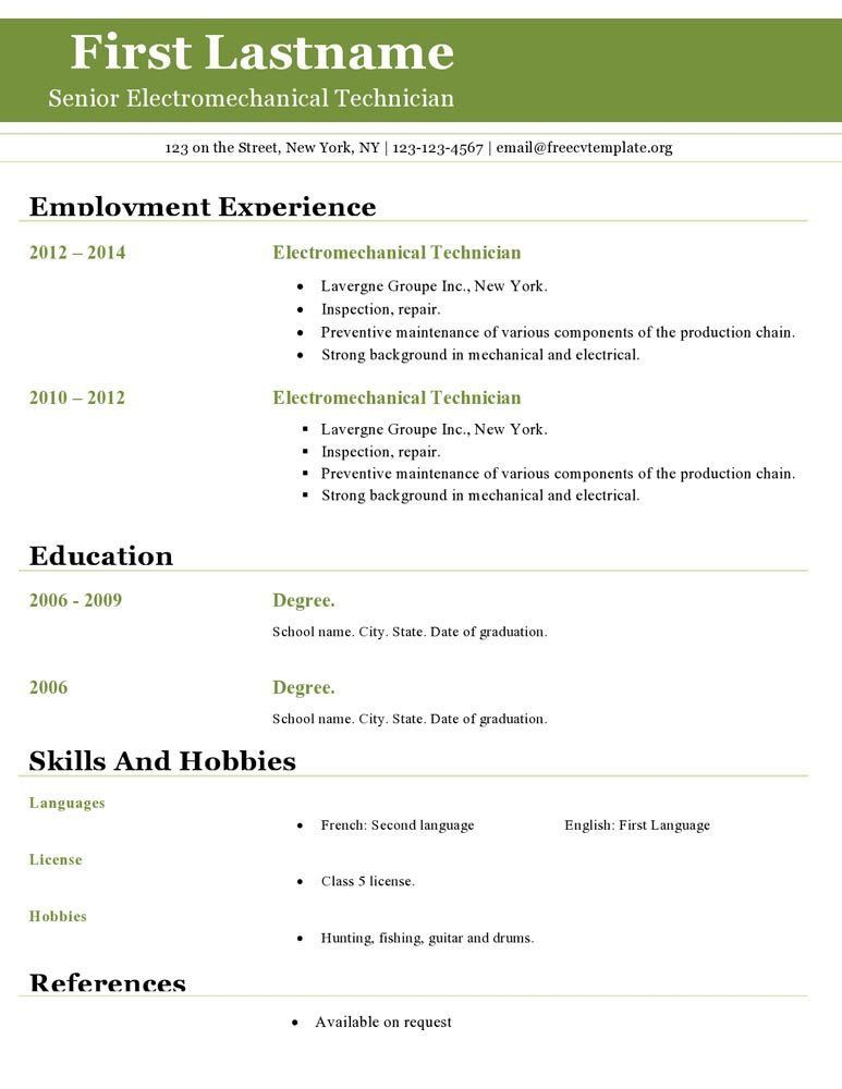 Download Resume Templates Open Office | haadyaooverbayresort.com