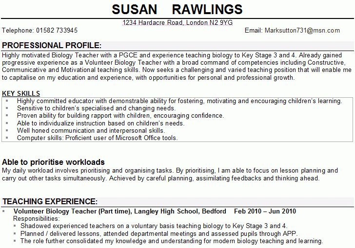 cv personal statement examples - Template