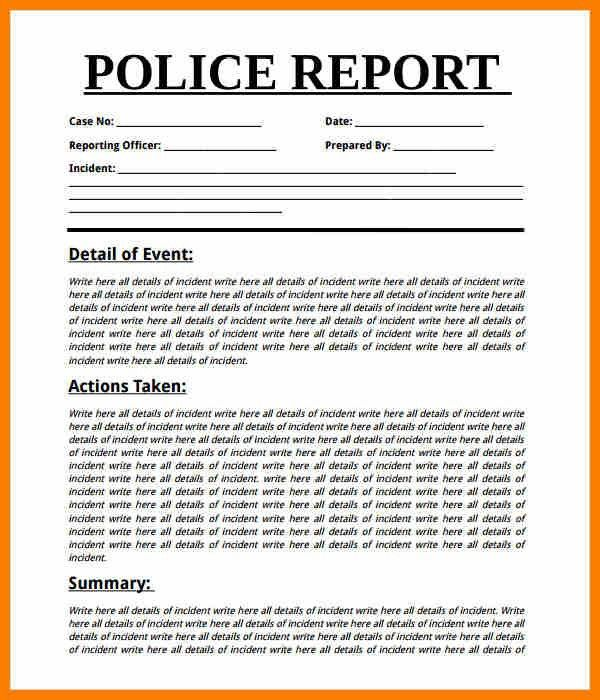 4+ sample police report   resume pictures