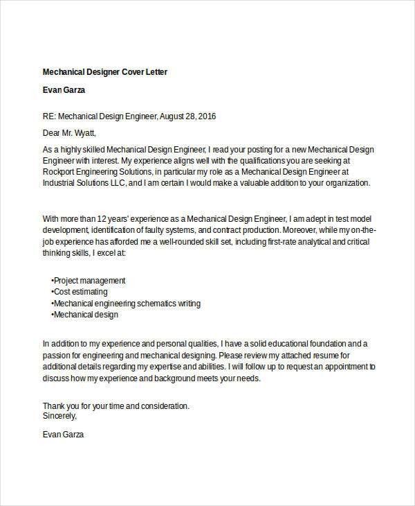 Designer Cover Letter - 9+ Free Word, PDF Format Download | Free ...