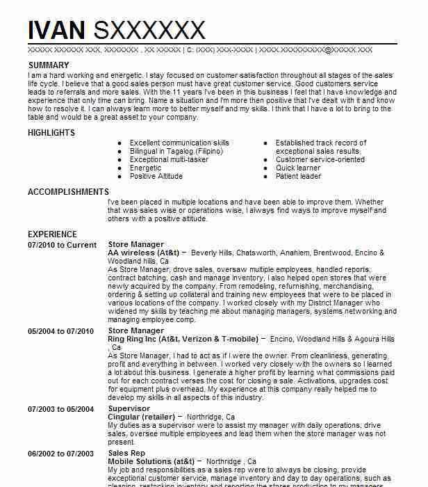 Best Store Manager Resume Example | LiveCareer