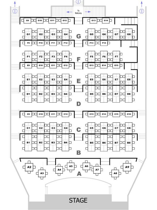 Theater Seating Chart - Candlelight Dinner Playhouse