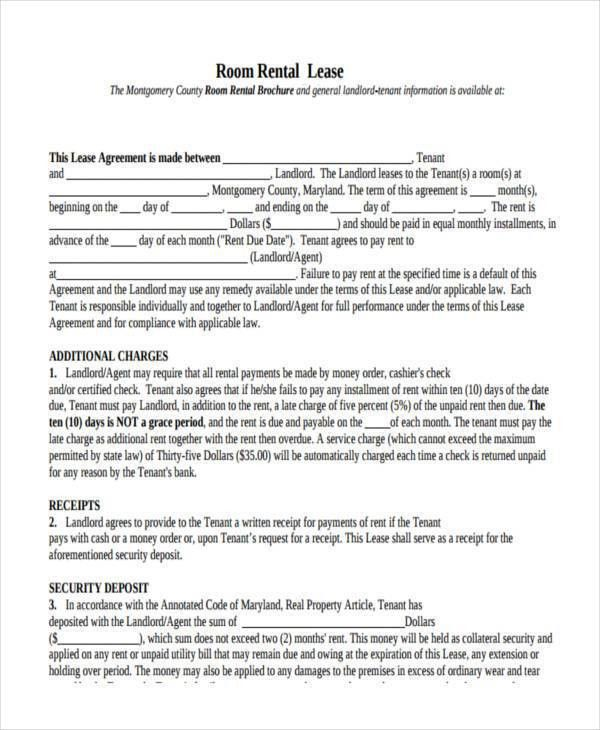 Room Lease Agreement Samples - 9+ Free Documents in Word, PDF