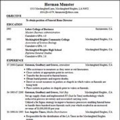 Build My Resume [Template.billybullock.us ]