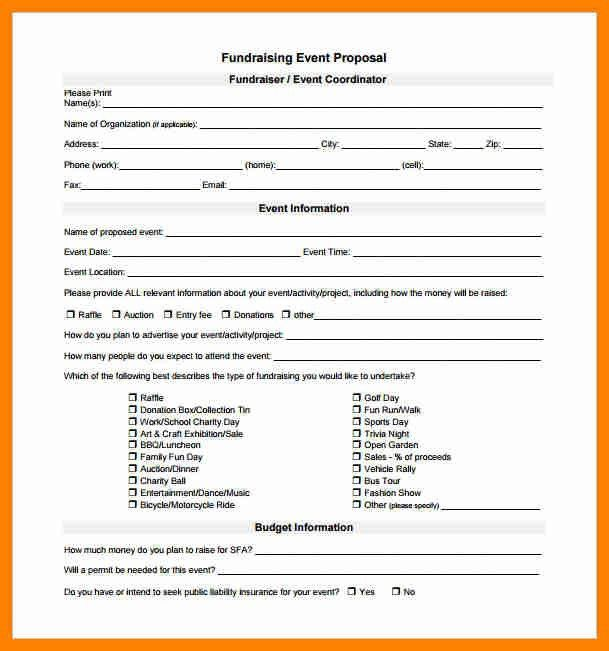 Fundraiser Proposal Template, non profit example donation letters ...