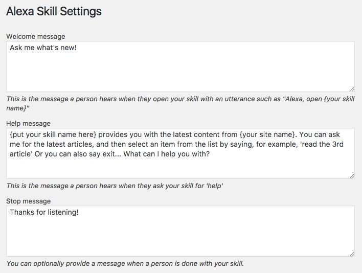 GitHub - alleyinteractive/voicewp: Create Alexa Skills through ...