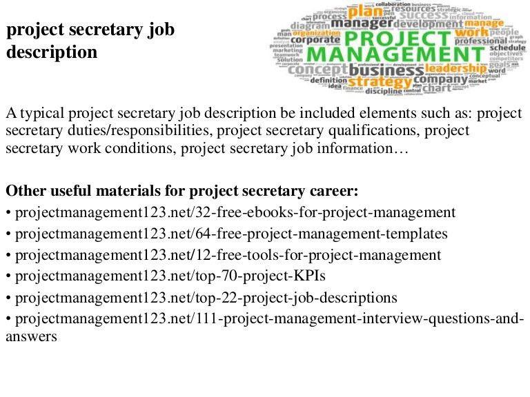 Project secretary job description