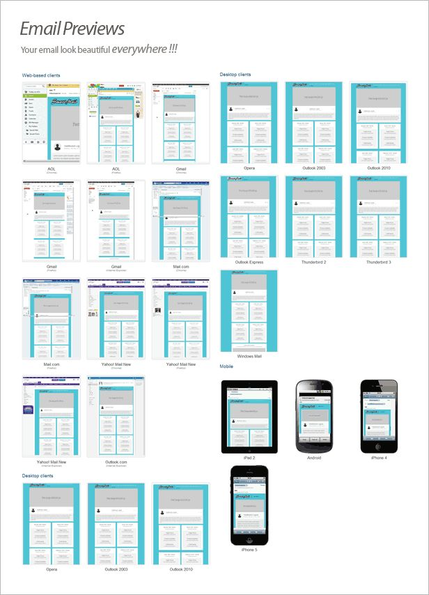 SmartMail - 108 Responsive Email Templates by robbiewilliams ...