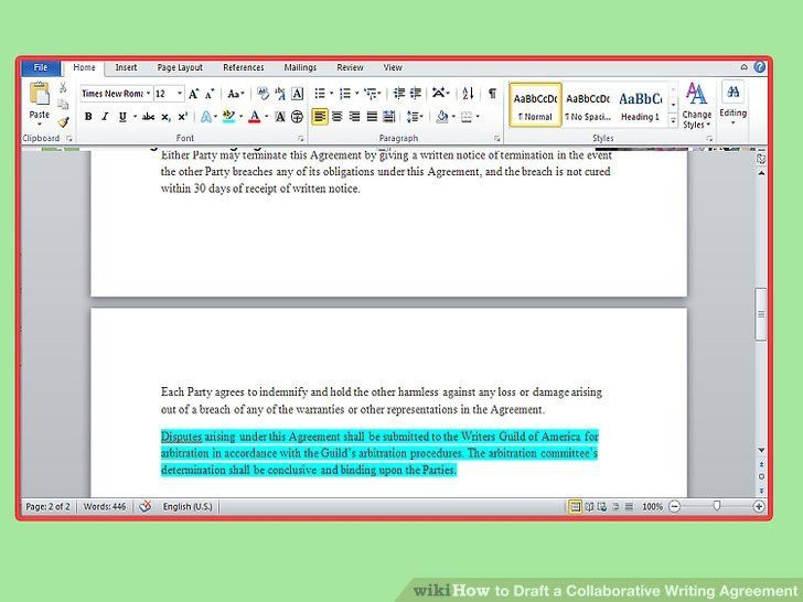 How to Draft a Collaborative Writing Agreement (with Pictures)