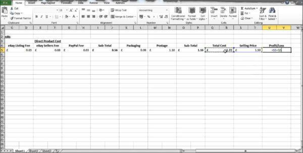 Profit And Loss Template Excel Profit And Loss Spreadsheet ...