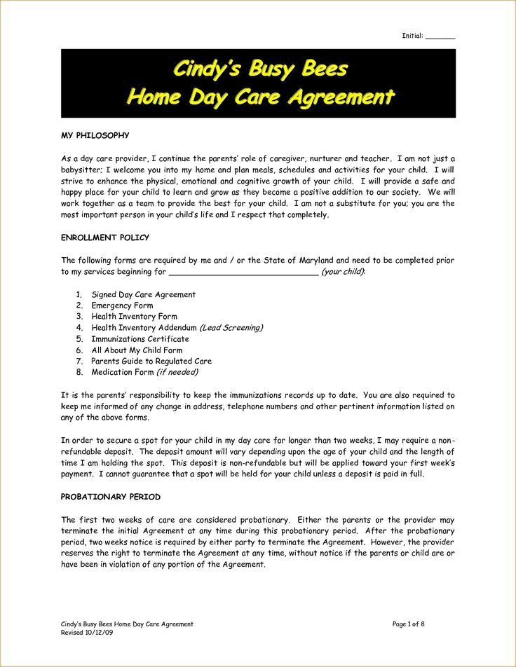 Best 25+ Daycare contract ideas on Pinterest | Daycare ideas, In ...