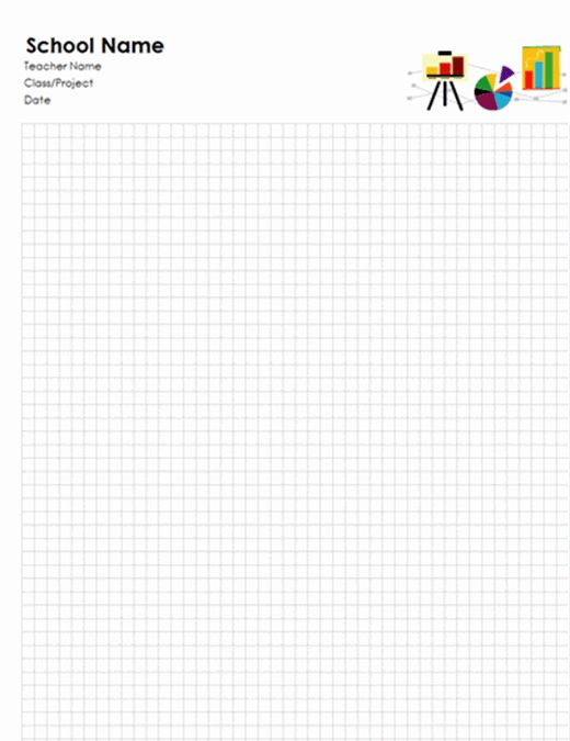 School graph paper - Office Templates