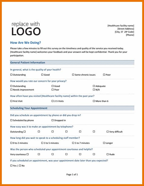 Questionnaire Template Word.Medical Practice Survey.png | Scope Of ...