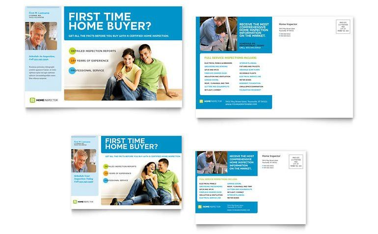 Home Inspection & Inspector Postcard Template - Word & Publisher
