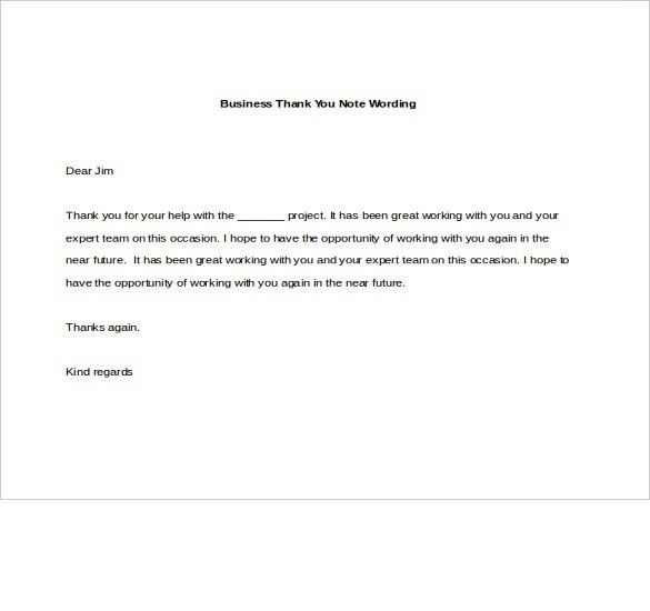 Thank You Letter For Business Opportunity Sample | The Best Letter ...