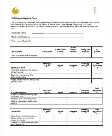 Simple Appraisal Forms - 22+ Free Documents in Word, PDF