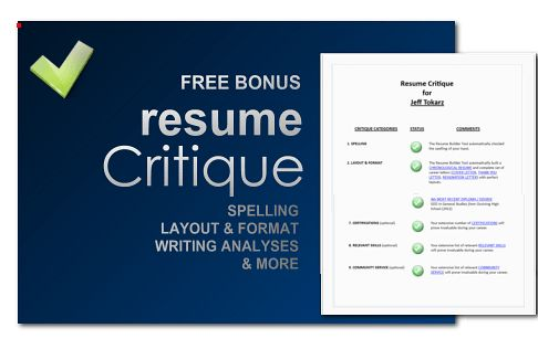 The 100% FREE Online Resume Builder by writeCLICKresume.com