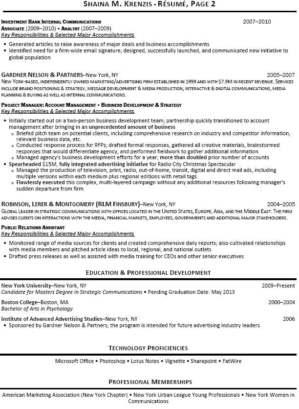 investment analyst resume