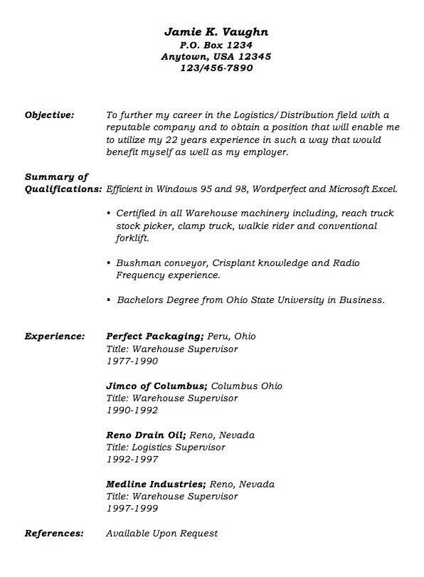 sample warehouse supervisor resume unforgettable inventory