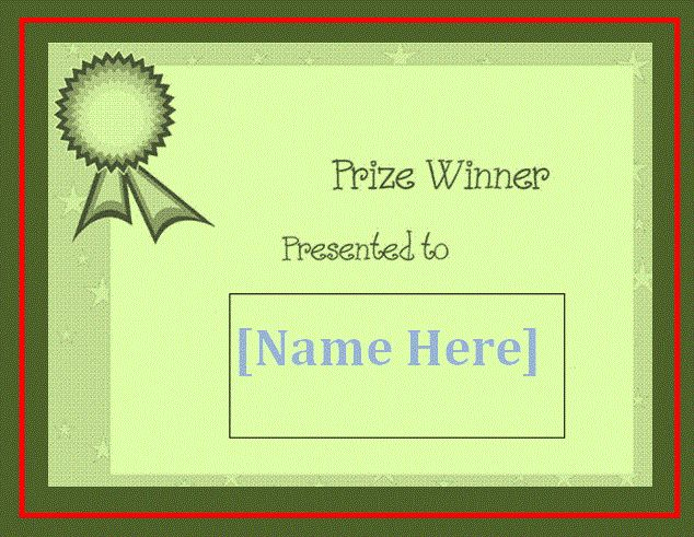 Winner Certificate Template | Free Word Templates