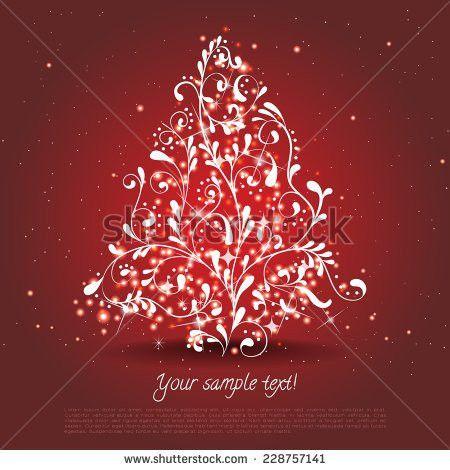 Abstract Red Christmas Tree Christmas Tree Stock Vector 61298272 ...