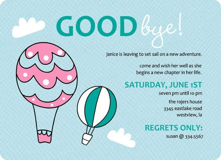 Party Invitations: Stunning Farewell Party Invitation Ideas ...