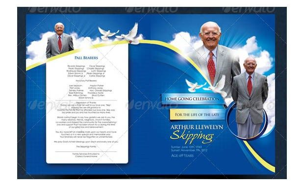 20+ Funeral Program Templates – Free Word, Excel, PDF, PSD, Format ...