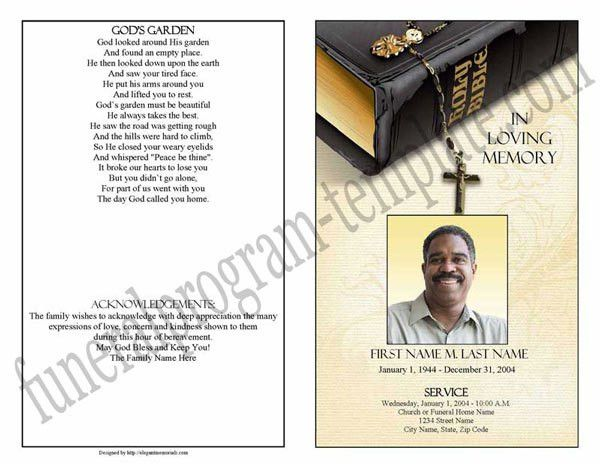 Funeral Program Template Sample | Obituary Template