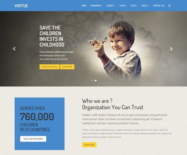 30+ Top Non-Profit HTML5 Templates for Charity & Fundrasing - Devfloat