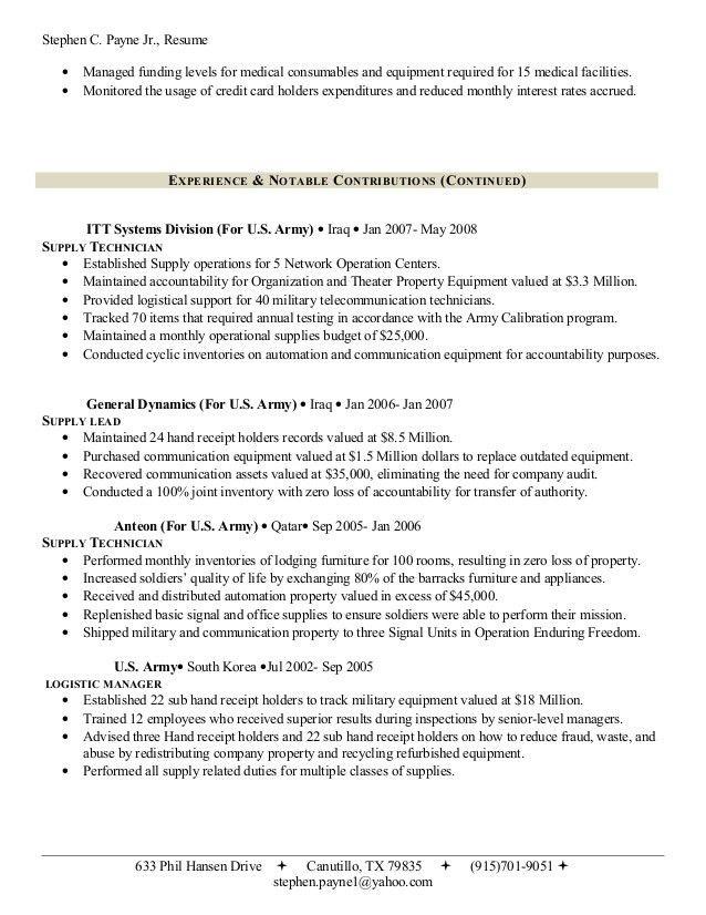 Stephen's Professional Resume