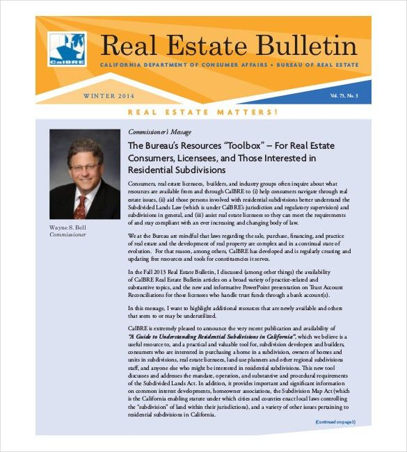 9+ Real Estate Newsletter Templates - Free Sample, Example, Format ...