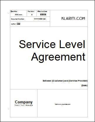 Service Level Agreement Template | Software | Software Templates