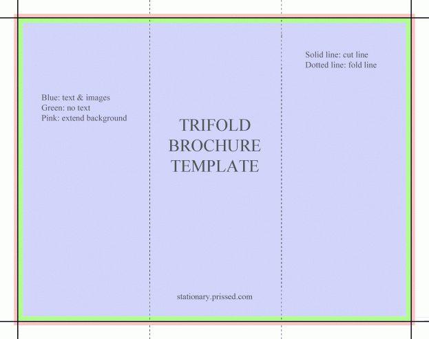 Brochure Template Word Best Design Trifold Flyer Handout 3 Fold ...