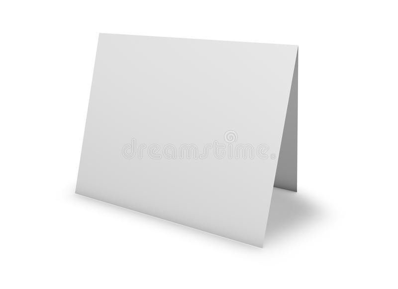 Blank Greeting Card Standing On Floor, On White. Stock ...