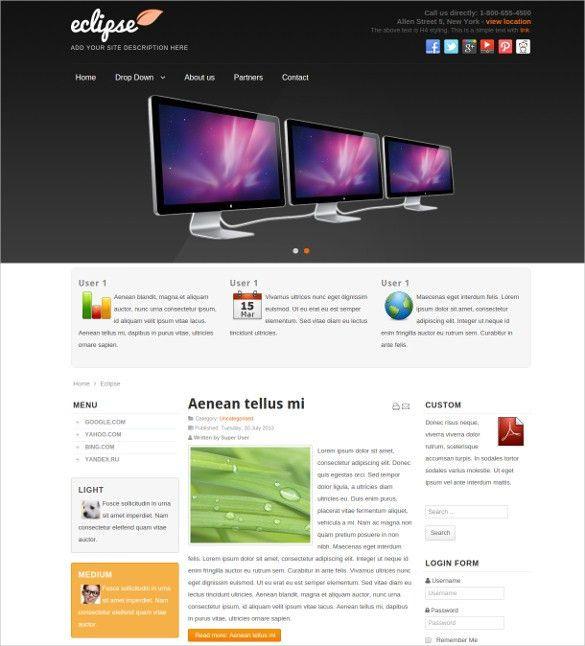 19 Free Responsive Joomla Templates & Themes | Free & Premium ...