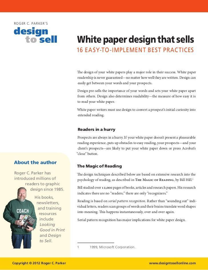 11 best White Paper Designs images on Pinterest | White paper ...