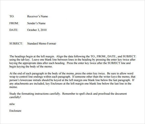Sample Casual Memo Letter - 5+ Examples, Format