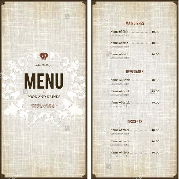 Menu Design Template – 40+ Free PSD, EPS Documents Download ...