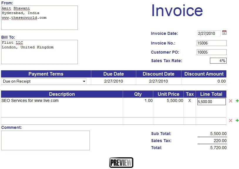 Make Invoice Online Free - Best Resume Collection