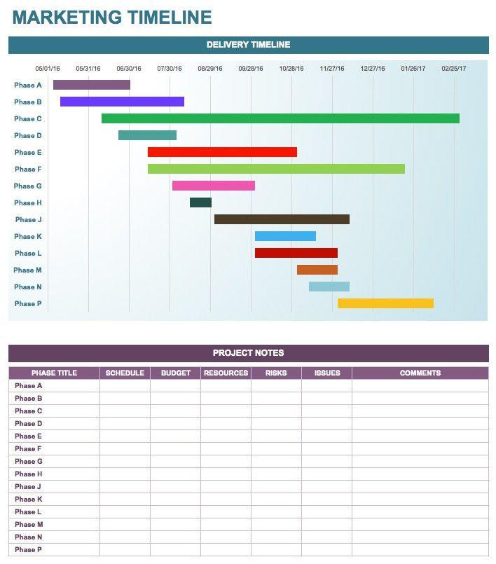 Free Marketing Timeline Tips and Templates - Smartsheet