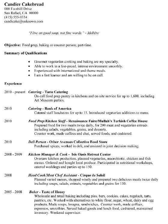 Download Food Prep Resume | haadyaooverbayresort.com