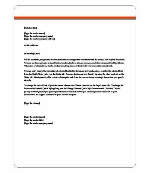 10 Best Images of Professional Letter Template Word - Business ...