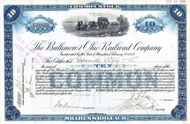 Selling Stock Certificates | Our Pastimes