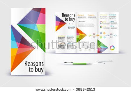 Color Application Booklet Template Design Corporate Stock Vector ...