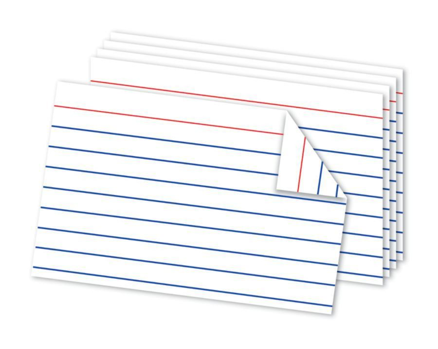 Office Depot Brand Double Sided Index Cards 4 x 6 White Pack Of ...