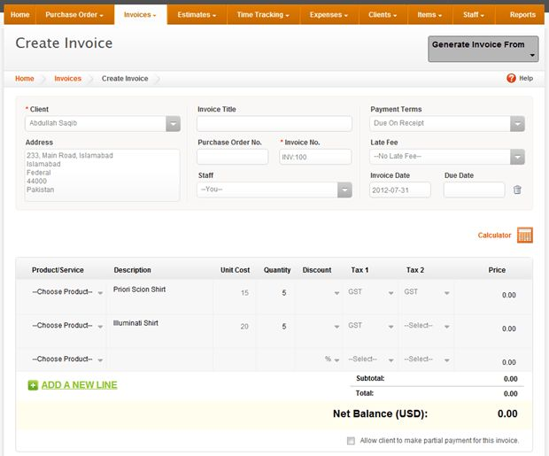 Online Billing, Invoicing & Time-Tracking With Invoicera - Cloud ...