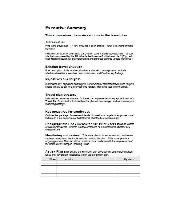Travel Business Plan Template – 8+ Free Word, Excel, PDF Format ...