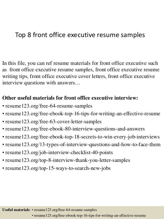 front office resume samples unforgettable receptionist resume